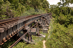 Death Railway Royalty Free Stock Images - Image: 14755909