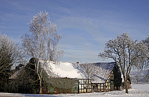 Farm In Winter In Germany Stock Photos - Image: 14756993