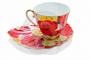 Tea Cup On A Saucer Stock Photos - Image: 14757273