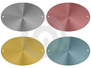 Metal Plates Set (01) Stock Photos - Image: 14759873