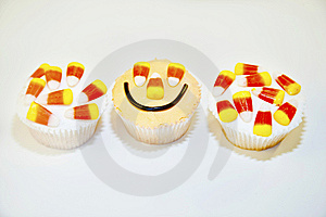 Three Halloween Cupcakes Royalty Free Stock Photo - Image: 14760715