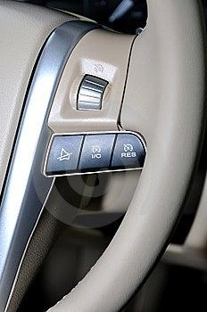 Push Button On Steering Wheel Stock Photo - Image: 14760940