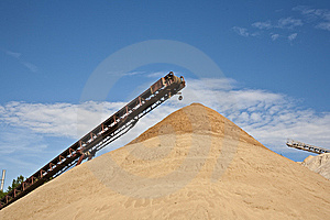 Conveyor On Site At Gravel Pit Royalty Free Stock Photography - Image: 14762767