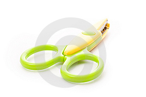 Green And Yellow Scissors Stock Images - Image: 14763404