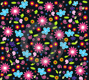 Seamless Floral Wallpaper Royalty Free Stock Photos - Image: 14765848