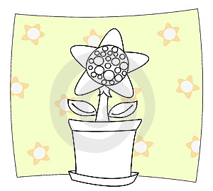 Sunflower In Pot Stock Images - Image: 14765854