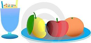 Fruits And Icecream Stock Photos - Image: 14767143