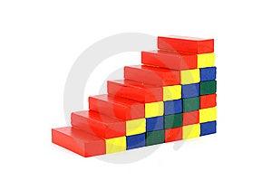 Colored Wood Bricks Stock Image - Image: 14768791
