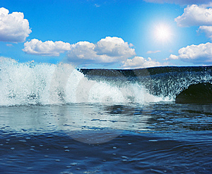 Gigantic Wave In Atlantic Ocean Stock Photography - Image: 14770362