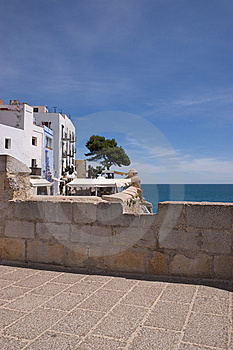 Glimpse Of Peniscola (Spain) Royalty Free Stock Image - Image: 14772036