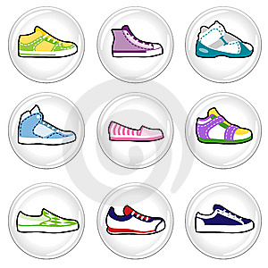 Shoes Icons Royalty Free Stock Photography - Image: 14772167
