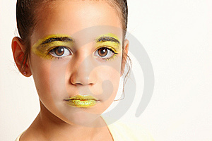 Yellow Make-up Royalty Free Stock Photos - Image: 14772688