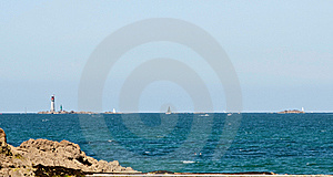 Lighthouse From The Coast Royalty Free Stock Photography - Image: 14774427