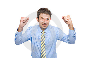Businessman With His Arms Up, Celebrating Success Stock Photography - Image: 14775202