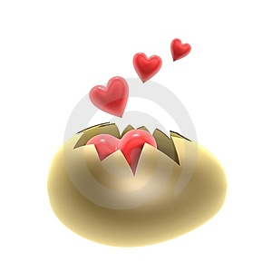 Red Heart Birth Royalty Free Stock Photography - Image: 14777747
