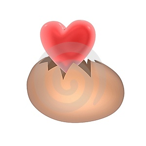 Red Heart Birth Royalty Free Stock Photos - Image: 14777758