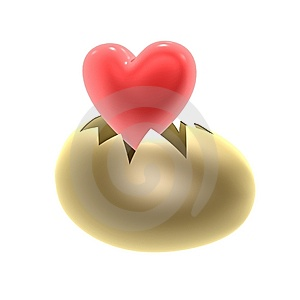 Red Heart Birth Royalty Free Stock Photo - Image: 14777775