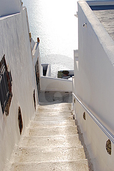 Stairs To Home, Santorini, Greece Stock Photography - Image: 14777802