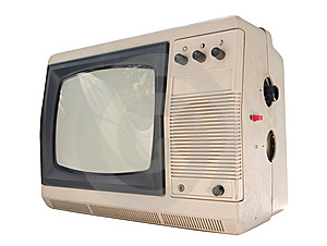 Old Small TV Set Royalty Free Stock Image - Image: 14779296