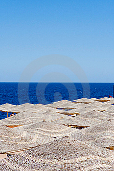 Background Of Tropical Umbrellas Royalty Free Stock Photography - Image: 14781067