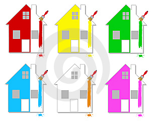 Multicoloured Houses Royalty Free Stock Photography - Image: 14782327