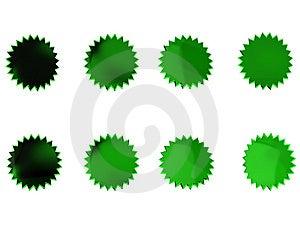 Green Stars Royalty Free Stock Photos - Image: 14785388