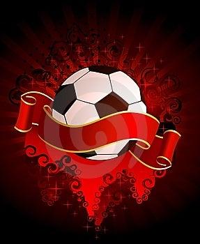 Football On A Grange Background Stock Image - Image: 14785721