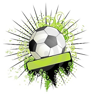 Football On A Grange Background Stock Photography - Image: 14785822
