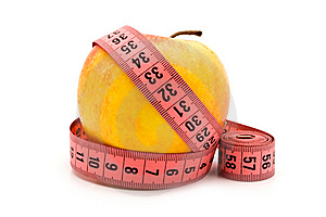Apple And Meter Royalty Free Stock Photography - Image: 14786797
