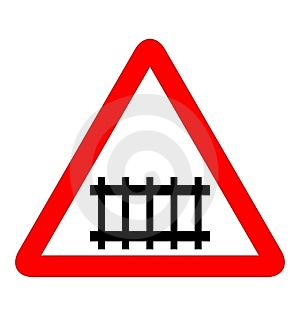 Road Sign Railroad Royalty Free Stock Images - Image: 14787409