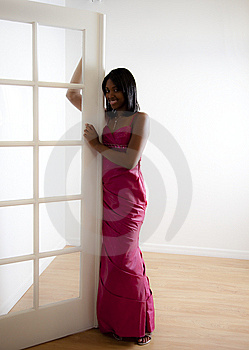 African American Teen Girl Prom Stock Image - Image: 14788181