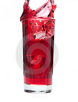 Cranberry Juice Splash Royalty Free Stock Photography - Image: 14790727