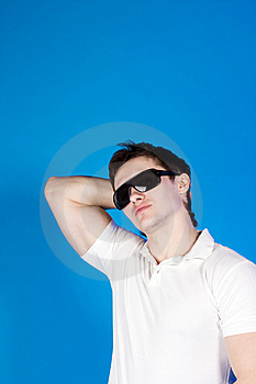 Confident Guy With The Glasses In The Studio Royalty Free Stock Images - Image: 14791339