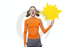 Young Girl Shouting Stock Image - Image: 14791901