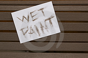 Wet Paint Sign Stock Photography - Image: 14794982