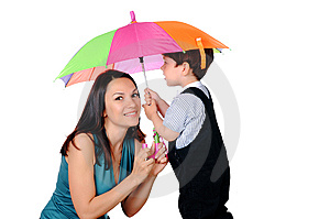 Mom And Her Young Royalty Free Stock Images - Image: 14795199