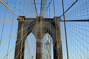 Brooklyn Bridge Suspension Royalty Free Stock Photo - Image: 14795955