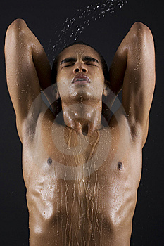 Men Enjoying The Shower Stock Photos - Image: 14796963