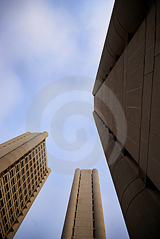 Sky Pointing Sky-scrapers Royalty Free Stock Photos - Image: 14798008