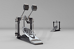 Double Kick Pedals Royalty Free Stock Photography - Image: 14798807