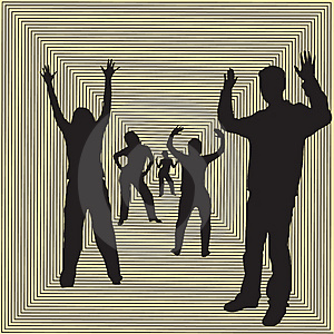 Dancing Silhouettes Stock Photography - Image: 1486112