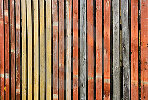 Color Wooden Fence Stock Photography - Image: 1486262