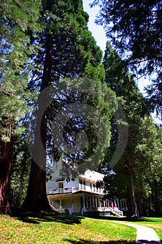 Historic Wawona Hotel, Yosemite National Park Stock Photos - Image: 1486493