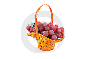 Basket Of Grapes Royalty Free Stock Images - Image: 14800169