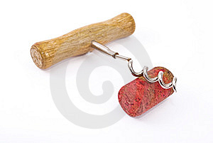 Cork And Corkscrew Royalty Free Stock Photos - Image: 14801448