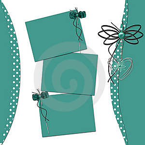 Congratulation Green Card With Sheets For Design Stock Photo - Image: 14802820