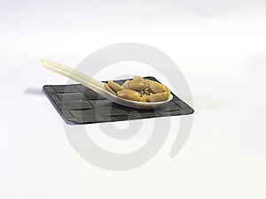 Roasted Peanuts In A Spoon Royalty Free Stock Photos - Image: 14802918