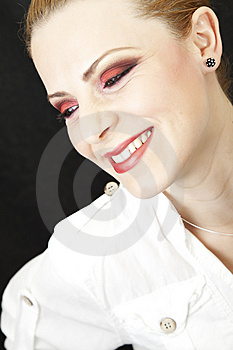 Red Makeup Royalty Free Stock Photography - Image: 14803587