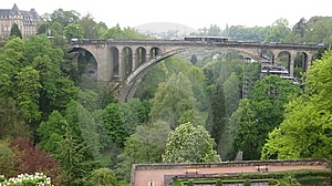 A Bridge In Luxembourg Stock Photos - Image: 14804153