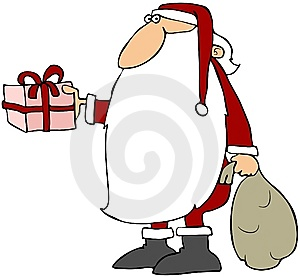 Santa With A Big Beard Royalty Free Stock Photo - Image: 14805545